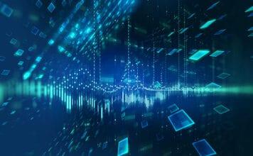abstract defocus digital technology background,represent big data and digital communication technology concept